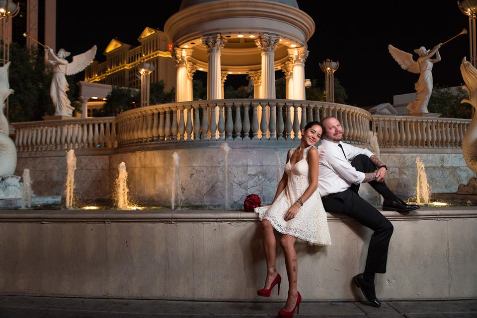 Las Vegas Strip Wedding in August