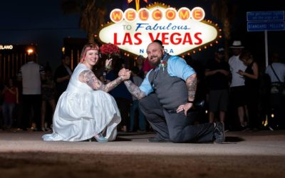 Jeff & Michele's Welcome To Las Vegas Sign Wedding